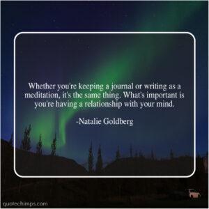 Writing versus Meditation